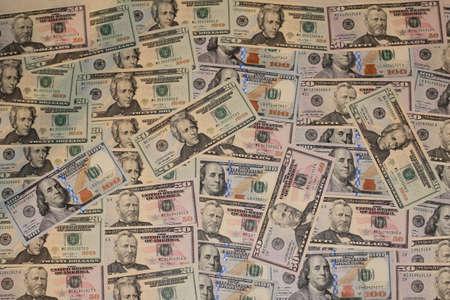 onehundred: 20-50-100 Dollars Banknotes Stock Photo