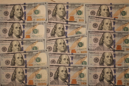 onehundred: 100 Dollars Banknotes Stock Photo