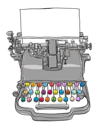 タイプライターの骨董品 写真素材