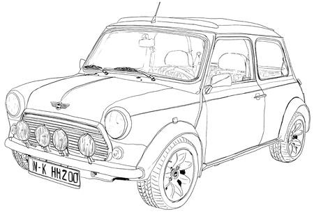 vintage car mini kunst