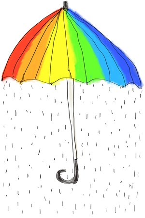 rainbow umbrella: rainbow umbrella