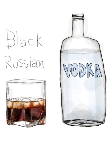 Black Russian and vodka