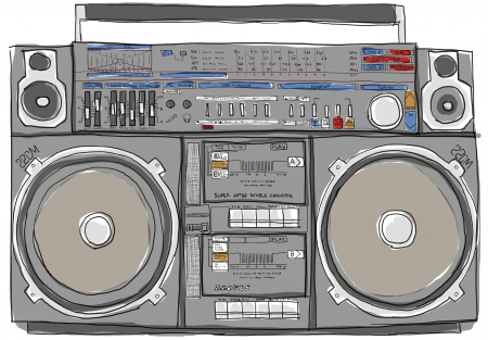 boombox stereo oude school