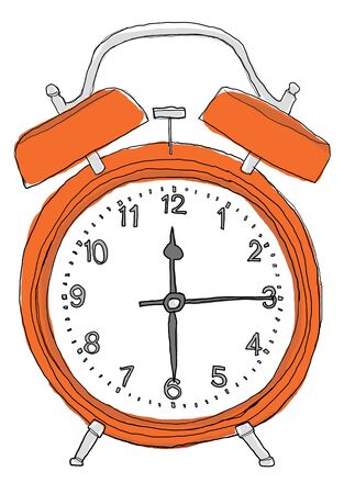 Orange alarm clock photo