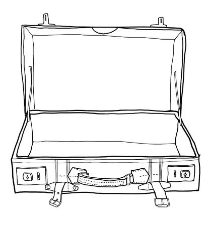 suitcase vintage black and white Stock Photo - 14872886