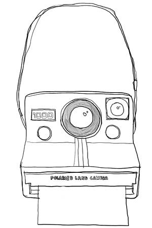 polaloy camera b&w Foto de archivo