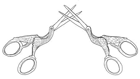 b w: Scissors vintage b w