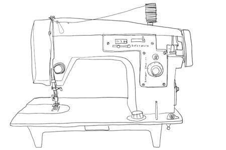 b w: sewing2 vintage b w
