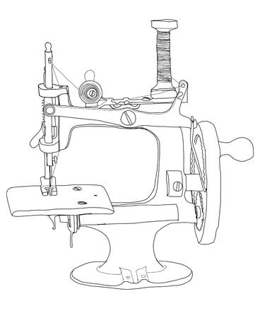 b w: sewing vintage b w