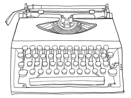 Typewriter old b w