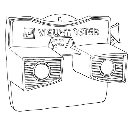 view master images b w Foto de archivo