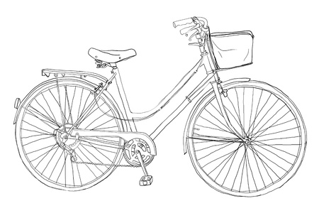 b w: vintage bicycle2 b w