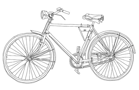 vintage bicycle b w Banque d'images