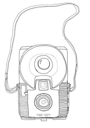 b w: vintage camera b w Stock Photo