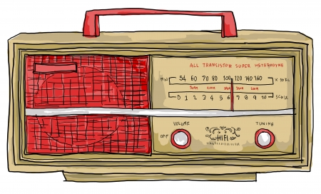 radio vintage Foto de archivo