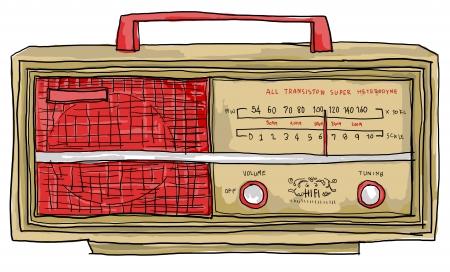 radio vintage Banque d'images