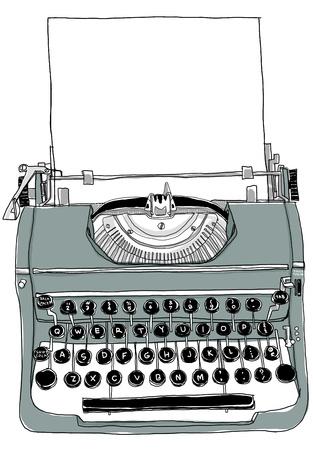 古い灰色のタイプライター