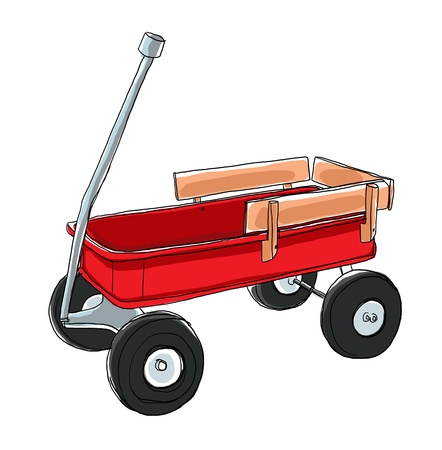 red wagon vintage toy