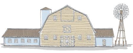 ling: barn and wind turbine