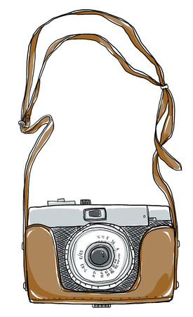 camera vintgae art And strap