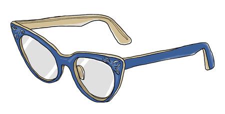 cat's eye glasses: blue Cat Eye Glasses