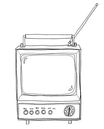 vintage tv line art photo
