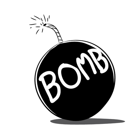 cartoon bomb: bomb vector cartoon