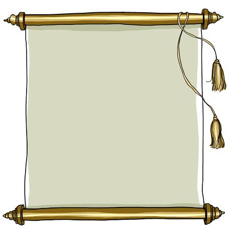 manuscript: old Royal Scroll painting art Stock Photo