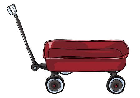 pull: Vintage red   Pull Mini Wagon illustration
