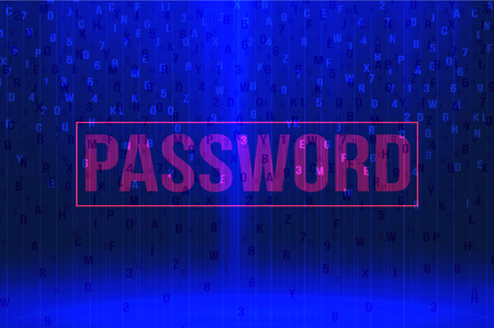 computer language: password background security concept vector illustration
