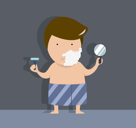 young men: Young men are shaving vector illustration Illustration