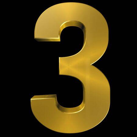 gold font: Alphabet gold font 3