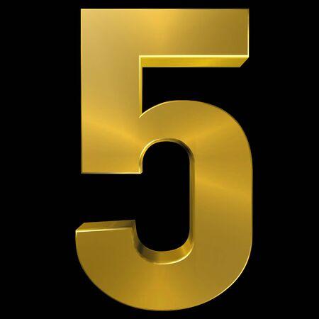 gold font: Alphabet gold font 5