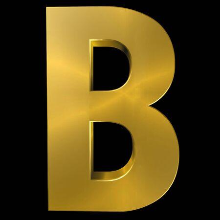 gold font: Alphabet gold font B Stock Photo