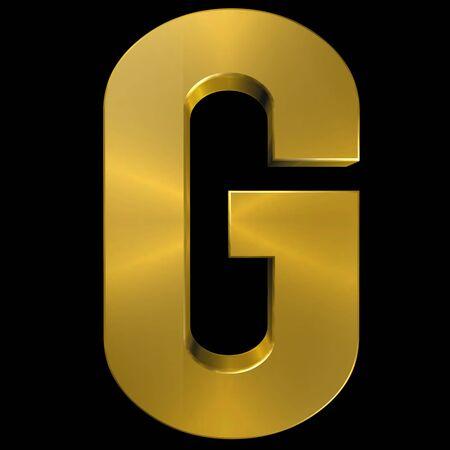 gold font: Alphabet gold font G Stock Photo