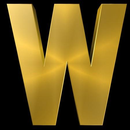 gold font: Alphabet gold font W