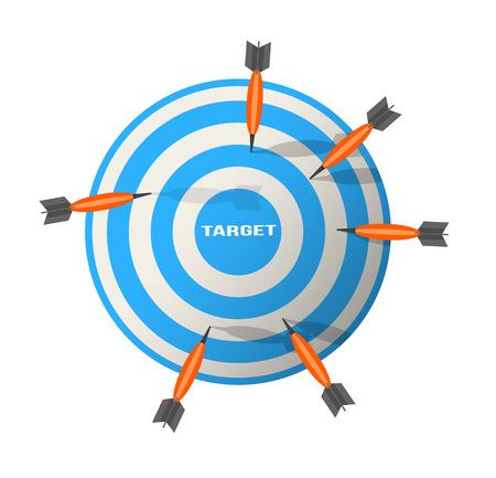 fling: Darts Illustration Business target marketing concept
