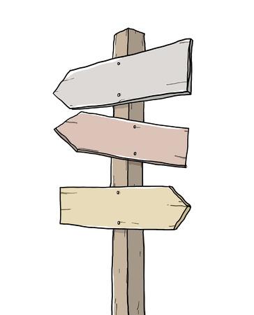 old sign: old sign junction art illustration Stock Photo
