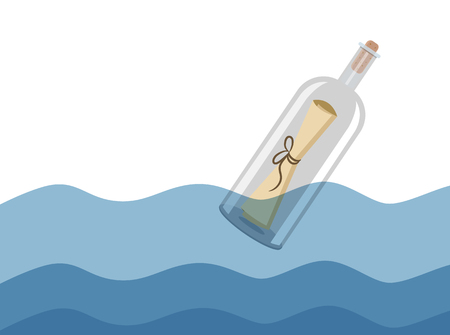 message: Message in a Bottle illustration
