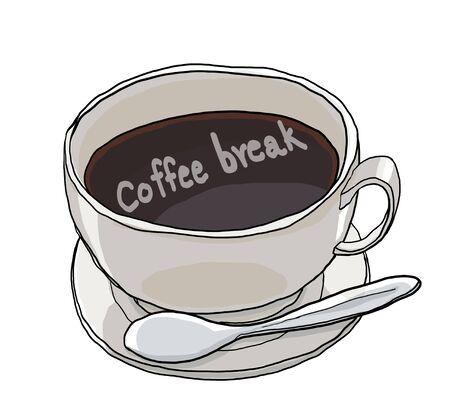 mocca: coffee break coffee time coffee cup coffee art cute art illustration