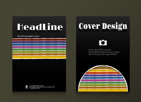 cover: black cover design,book cover vector illustration Illustration