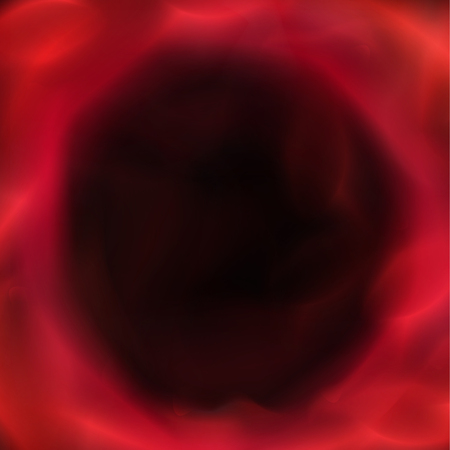 Loch roten Nebel abstrakt ungewöhnliche Illustration Vektor