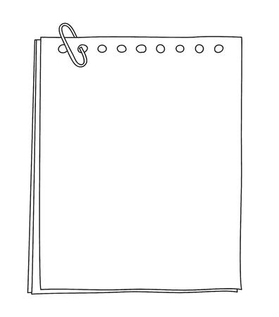 Papier notitieboekje handgetekend schattige lijn kunst illustratie