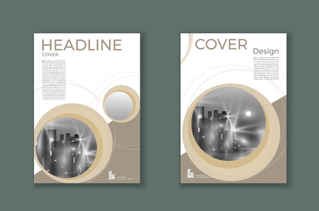 Brown cover Brochure template, design, annual report, magazine and flyer layou Vector