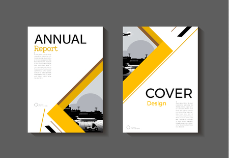 abstract yellow modern cover book brochure template design