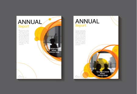 Brown Abstract Modern Cover Book Brochure Template Design Annual