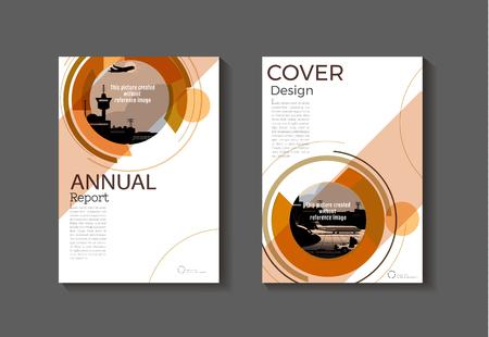 Brown resumen moderno libro Folleto plantilla, diseño, informe anual, revista y diseño de flyer Vector a4. Ilustración de vector