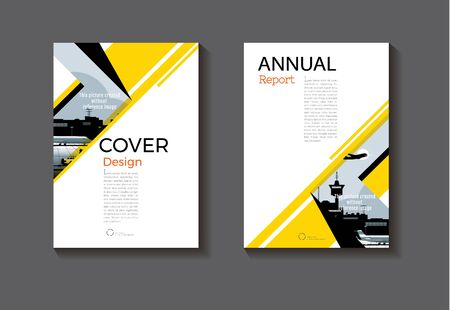 business card template: Yellow and black cover design modern book cover abstract Brochure cover  template,annual report, magazine and flyer layout Vector a4