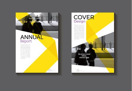 Moderne Bucheinband des gelben abstrakten Abdeckungsdesigns. Standard-Bild - 87528248