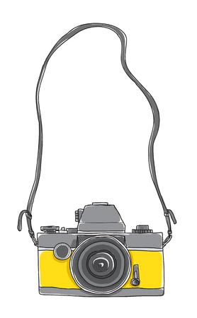黄色のカメラ。 写真素材 - 88238009